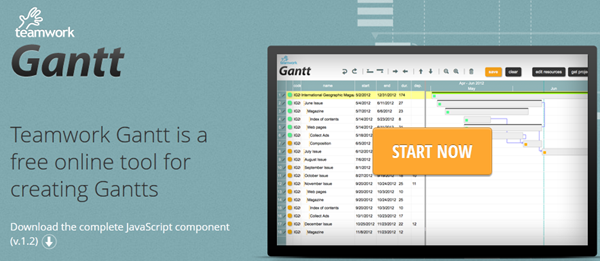Twproject Gantt site